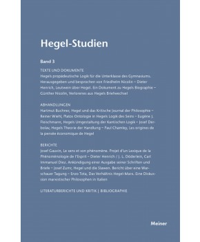 Hegel-Studien Band 3