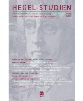 Hegel-Studien Band 53/54